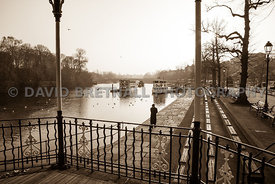 The Groves & River Dee From The Bandstand, Chester (Sepia)