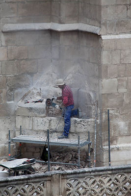 Cathedral of Burgos: stonemason