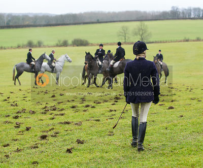 Lulu Fletcher with the Cottesmore Hunt at Deane Bank Farm 4/12/12