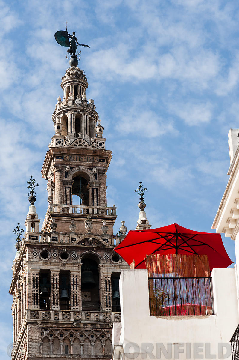 The Giralda is a former minaret that was converted to a bell tower for the Cathedral of Seville.  The tower is 95.5 metres in...