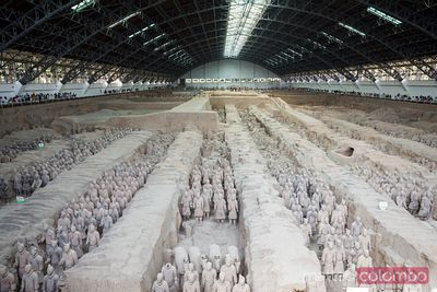 Famous terracotta army in Xian, China