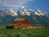 Barn and Tetons