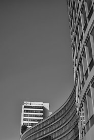Curved office front (Black and White)