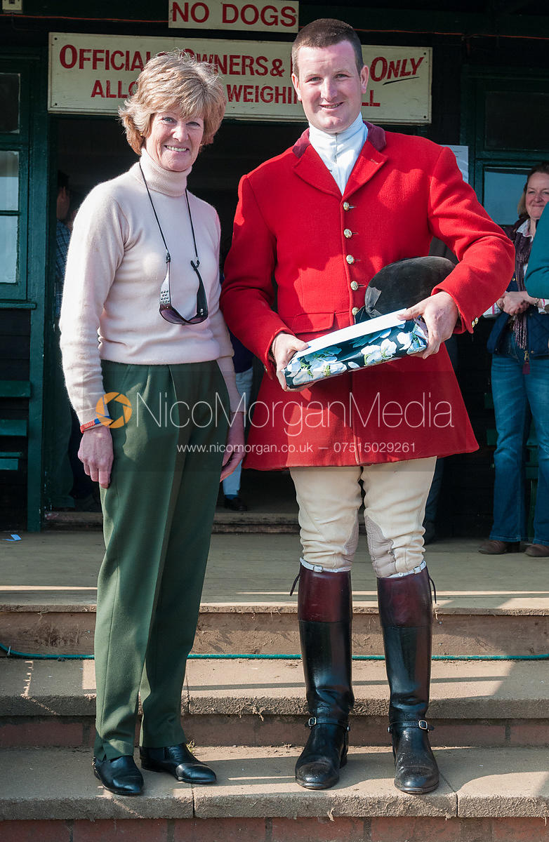 Presentation to Chris Edwards - Belvoir Hunt Point to Point 24/3/12