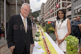120 Meter long apple cake to celebrate 120 Years Badrutt's Palace Hotel St.Moritz