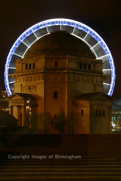Hall of Rememberance and Birmingham Wheel. Centenary Square