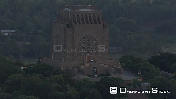 Aerial shot of the Voortrekker Monument. Pretoria Gauteng South Africa