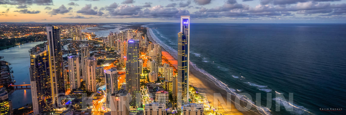 Panorama - Surfers Paradise night view