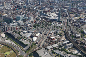 Manchester view of the area around Granada TV MOSI Liverpool Rd and the Castlefield district