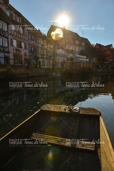 Boat while visit Colmar, France or Little Venice.