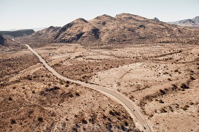 Aerial of West Texas desert landscape
