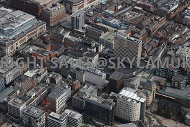 Leeds aerial photograph of the area of Park Row Leeds City Centre