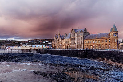 After the storm, Old College, Aberystwyth
