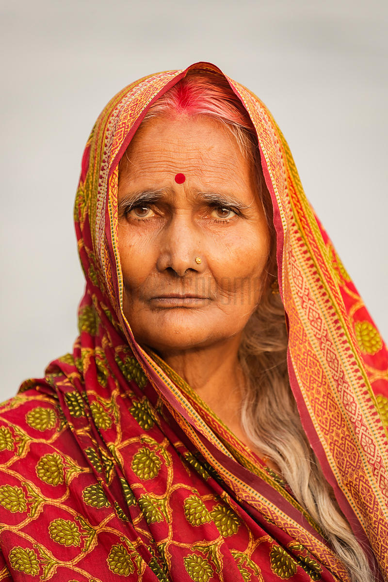 Portrait of a Devotee During Chhat Puja