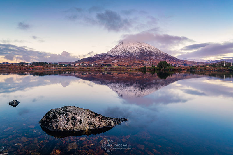 Errigal Winter Reflection