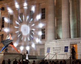 projection art photography from Art All Night (Nuit Blanche) DC 2014 (presented by National Portrait Gallery, @smithsonian)