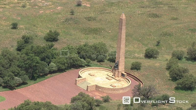 Aerial shot of the Women's Memorial at the Anglo-Boer War Museum in Bloemfontein Bloemfontein Free State South Africa