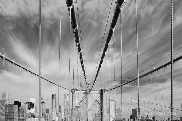 BROOKLYN BRIDGE NEW YORK CITY SKYLINE NEW YORK