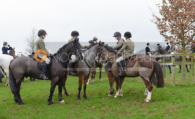 The Cottesmore Hunt at Burrough House 19/12