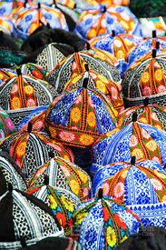 Sapa Market Colourful Fabric Hats
