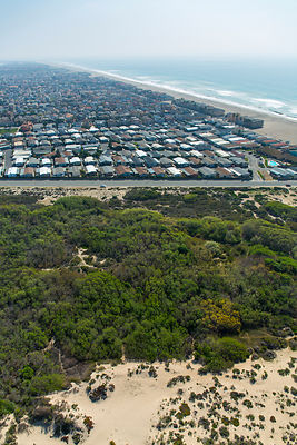 Aerial view of city of Oxnard, Ventura County, California, USA, February 2015.