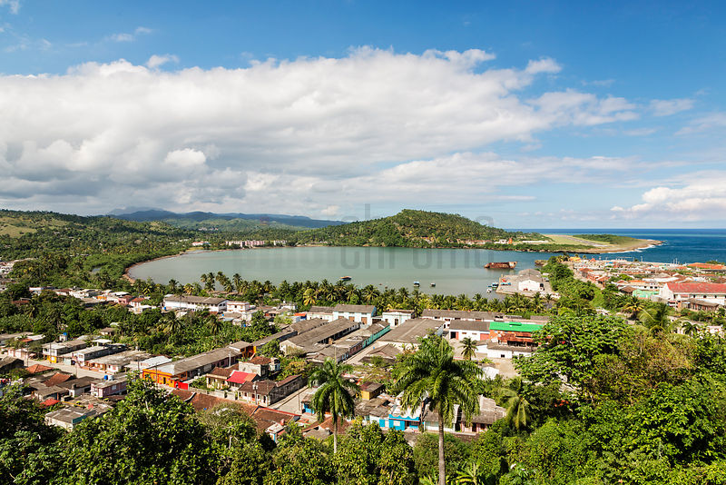 Elevated View of Baracoa Bay from El Castillo Hotel