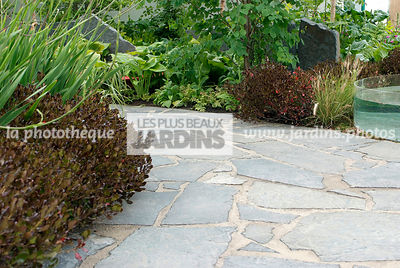 Contemporary garden, Pavement, Stone, Digital