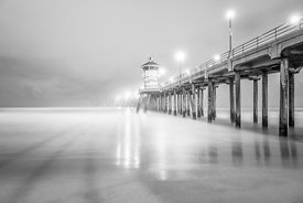 California Pier in Black and White