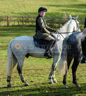 Sienna de Gale at the meet. The Cottesmore Hunt at Tilton