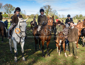 Edward Ashmore, Lisa Ashmore at the meet. The Cottesmore Hunt at Tilton