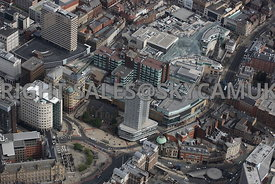 Leeds aerial photograph of City Square Park Plaza Hotel and Mill Hill Chapel and Leeds Shopping Plaza
