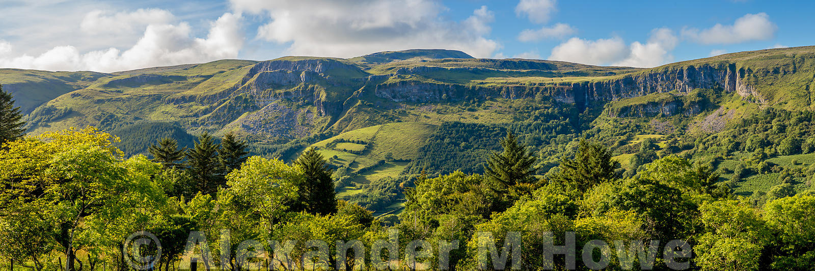 Evergreen Mountain range by Glencar in County Leitrim, Ireland