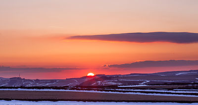 Winter sunset near Bretton