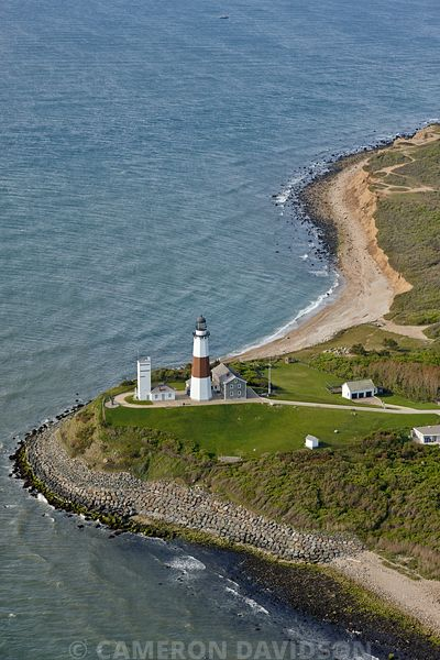 Aerial photograph of the Montauk Point Light,