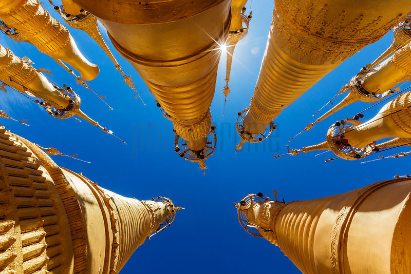 Golden Stupas at Indein Pagoda
