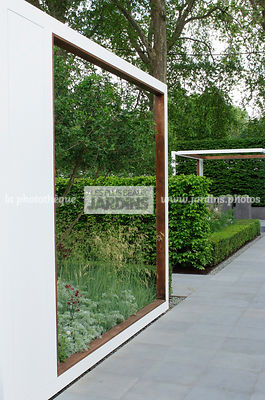 Contemporary garden, Digital, Pavement, Pergola