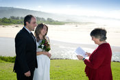 This couple were eloping to get married by the coast at Short Point, Merimbula.