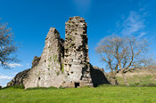 Pendragon Castle, in the Upper Eden Valley near Kirkby Stephen, Cumbria. Reputed to be the home of Uther Pendragon, father of...