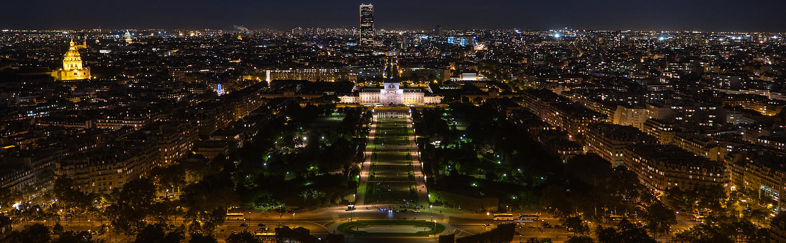 Aerial View of Paris at Night