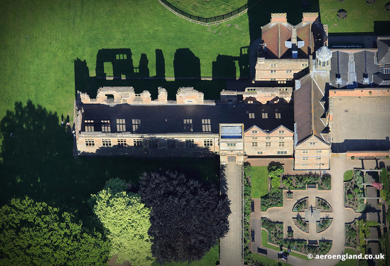 aerial photograph of Rufford  Abbey Nottinghamshire England UK.