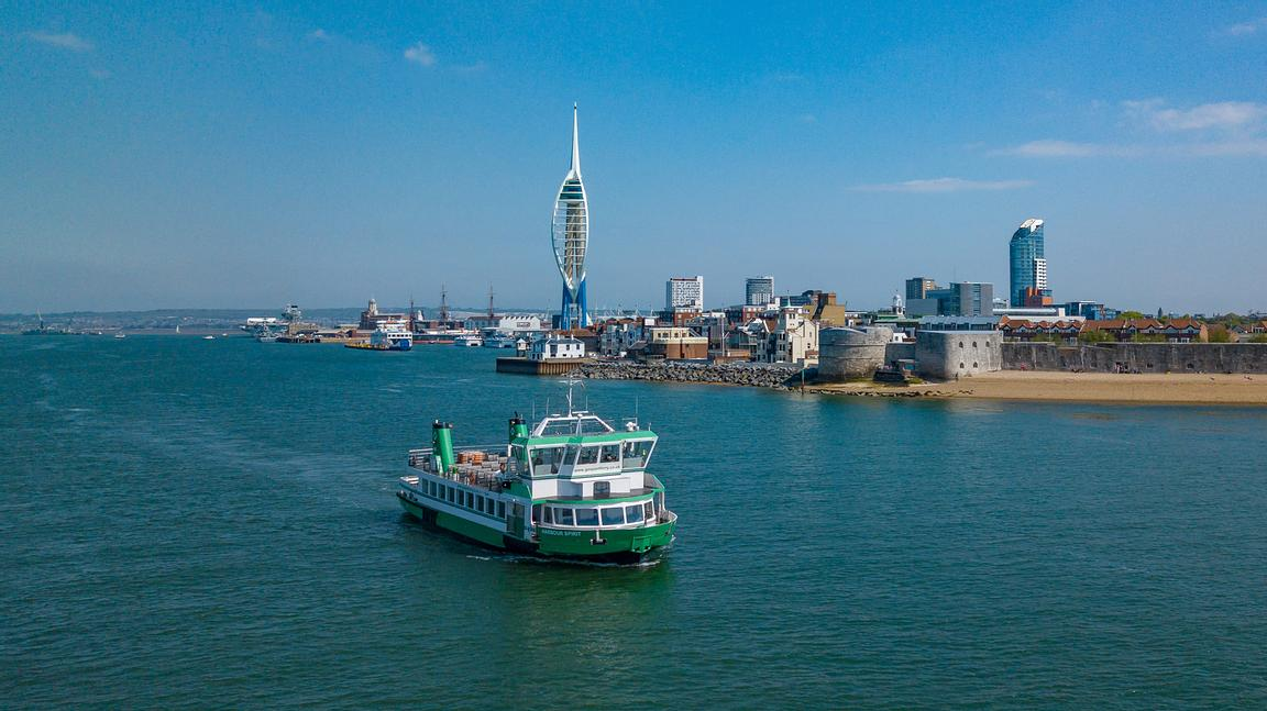 Aerial View of Gosport Ferry
