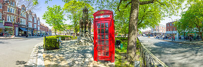 Telephone Booth by the street, Hampstead Heath