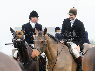Major Tim Brown At the meet. The Cottesmore and The Pytchley at Downton House