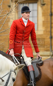 Otis Ferry at the meet - The South Shropshire and Belvoir Hunts at Belvoir Castle 11/3/17