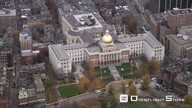 Massachusetts State House, Boston. Shot in November