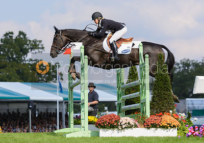 Jonelle Price and THE DEPUTY - show jumping phase, Burghley Horse Trials 2014.