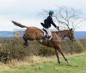 Chris  Jarrom jumping a hedge above Wilson's covert