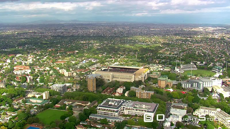 Aerial shot of Newlands Stadium. Western Cape South Africa