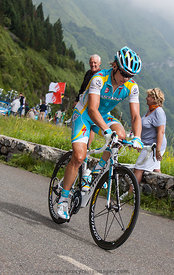 Climbing Col D'Aubisque - Tour de France 2011