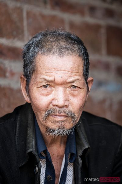 Old chinese farmer portrait